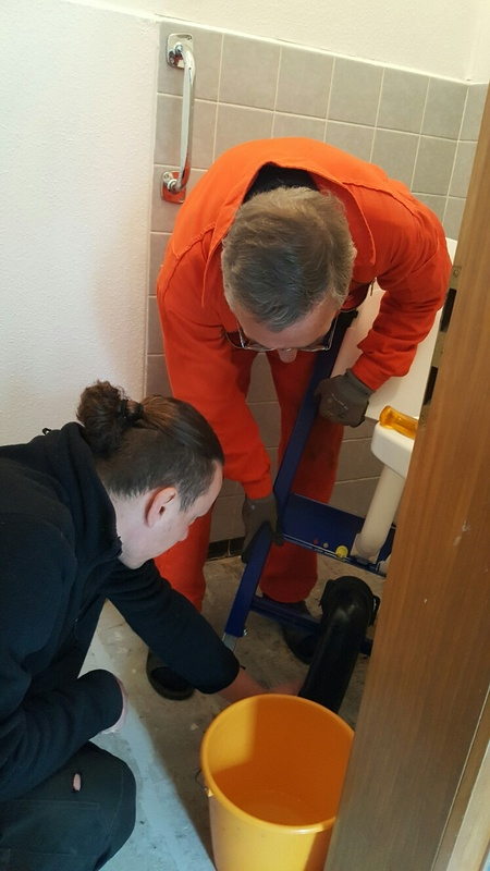 <span></span><div>Team work - Roshi is getting a new toilet</div>