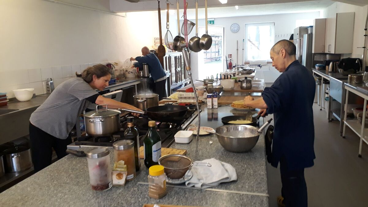 <span></span><div>Jishin is cooking Israeli food for the occasion</div>
