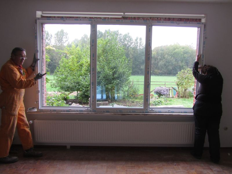 setting the window in place  <span></span>