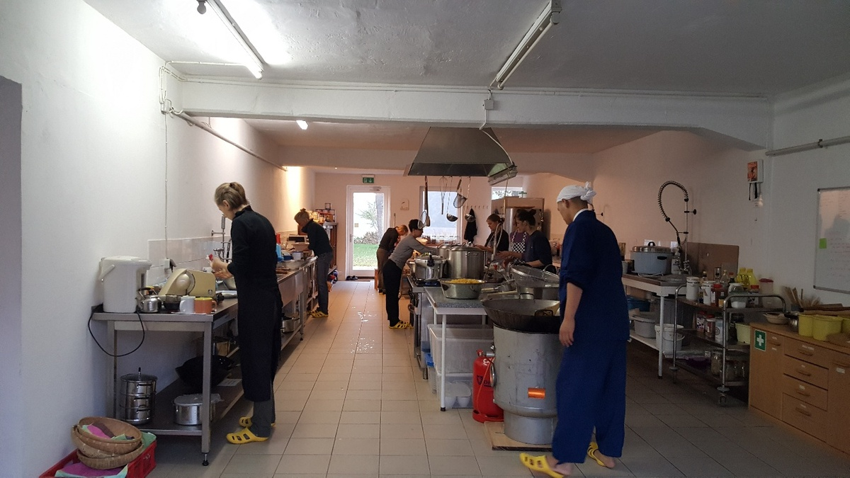 <span></span><div>Kitchen is happily busy as well</div>