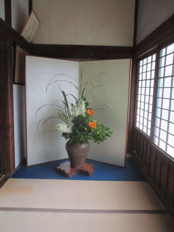 <span></span><div>Beautiful Ikeabana arrangement by Masako san</div>