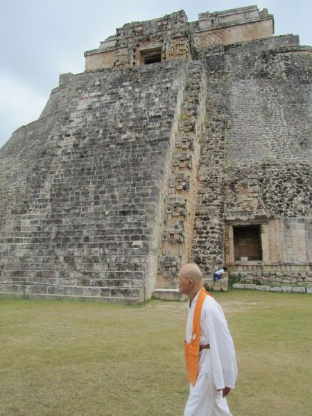 Roshi and mayan pyramid  <span></span>