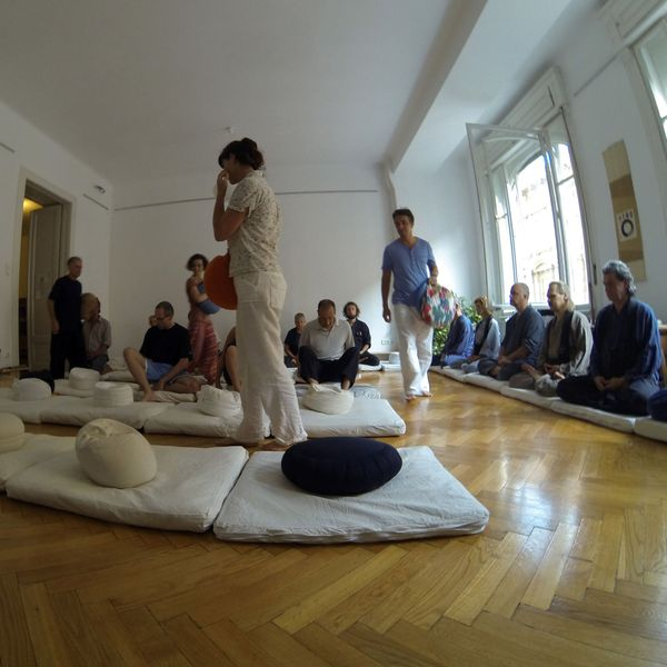 <span></span><div>Hungarian sangha joining for zazen</div>
