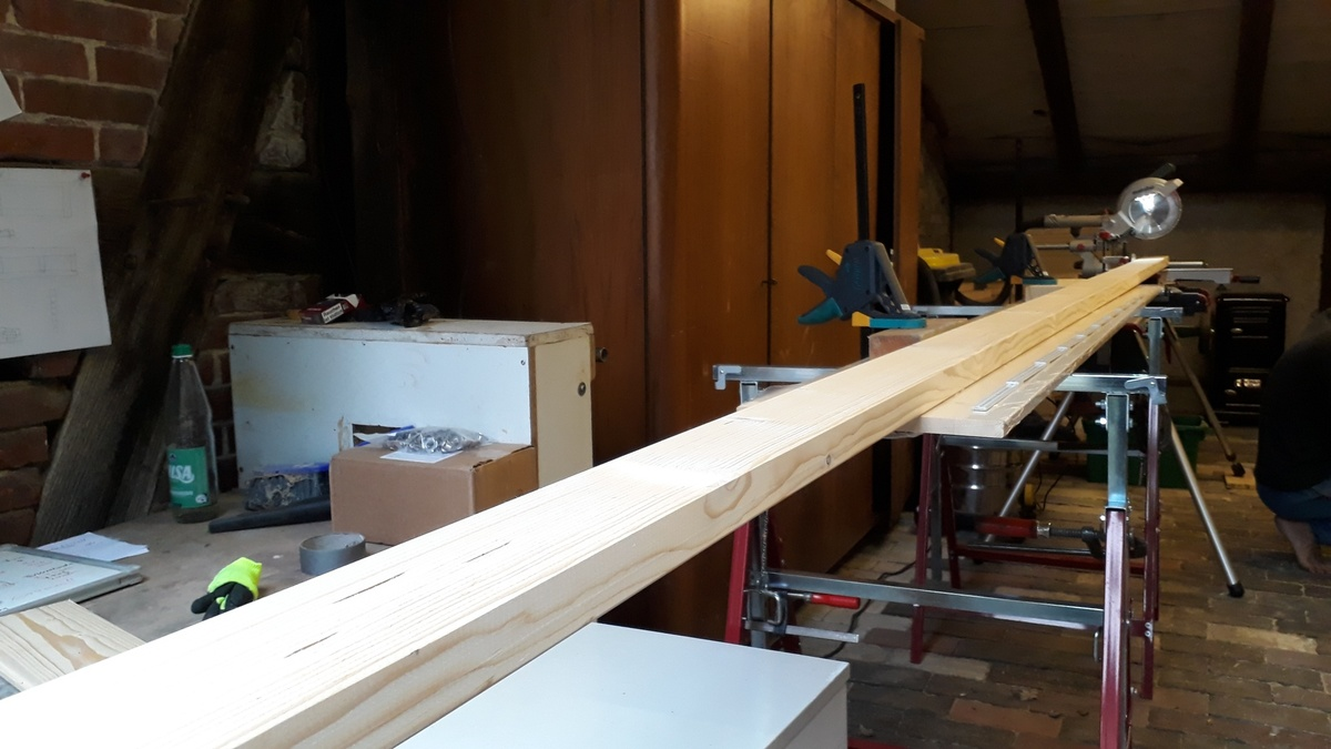 <span></span><div>Setting up our new wood workshop</div>