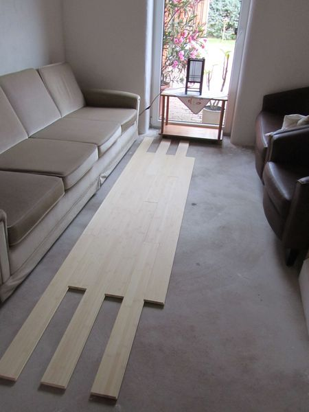 test lay out - <span>real bamboo - much warmer flooring</span>