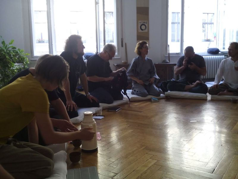 <span></span><div>Meeting also in zendo</div>