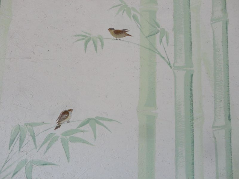sparrows in bamboo  <span></span>