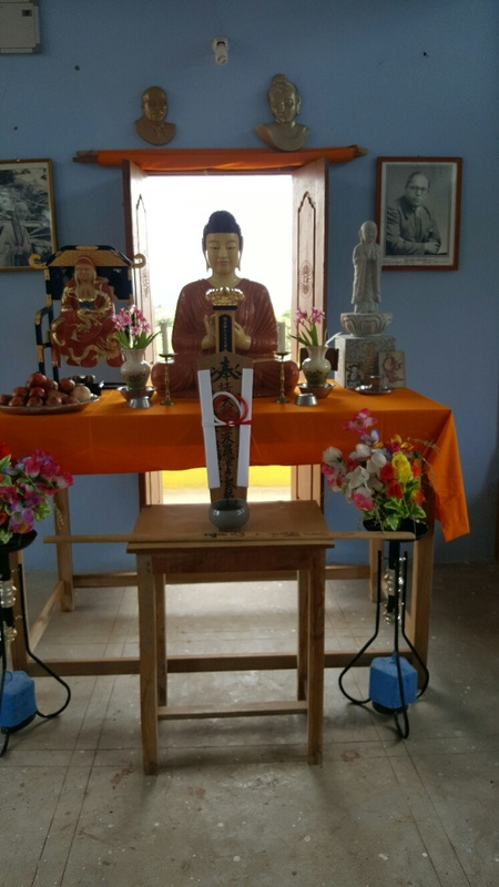 <span></span><div>Altar in Zendo - Jizo Bodhisattva and Bodhidaruma will receive their own buildings eventually</div>