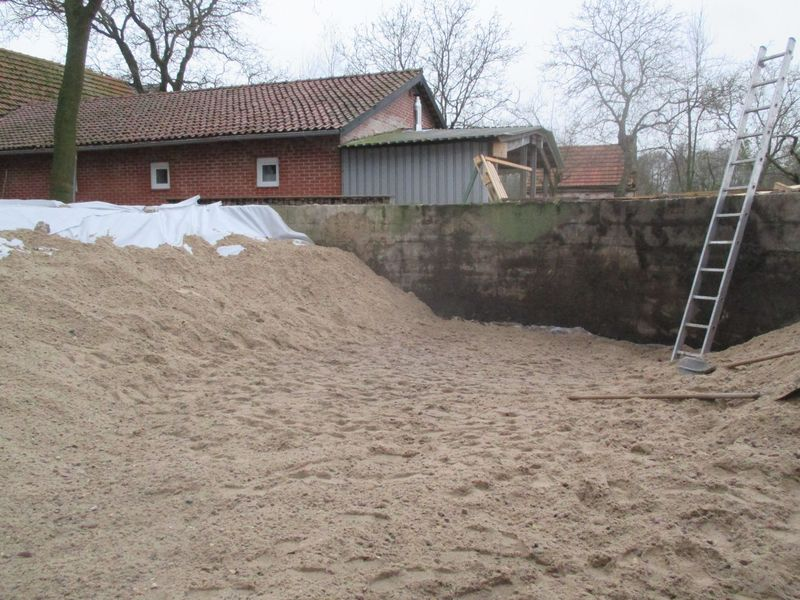 <span></span><div>Covered with more sand/pebble mixture</div>
