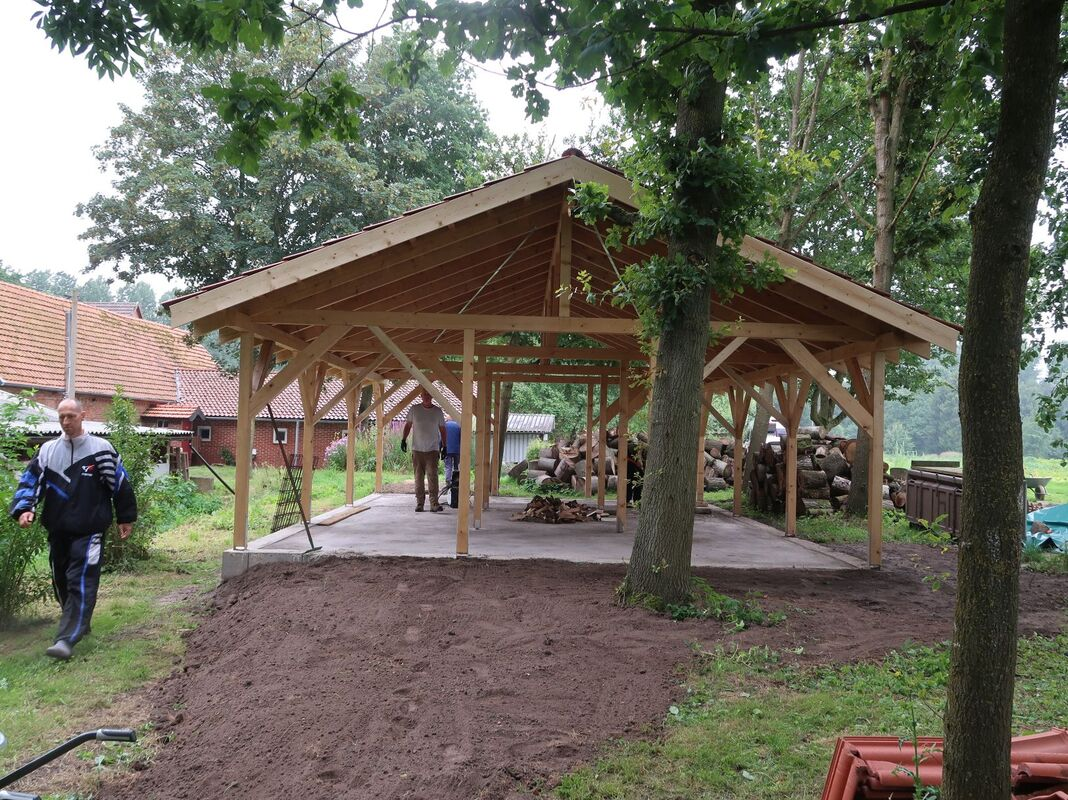 <span></span><div>The new wood shed....</div>