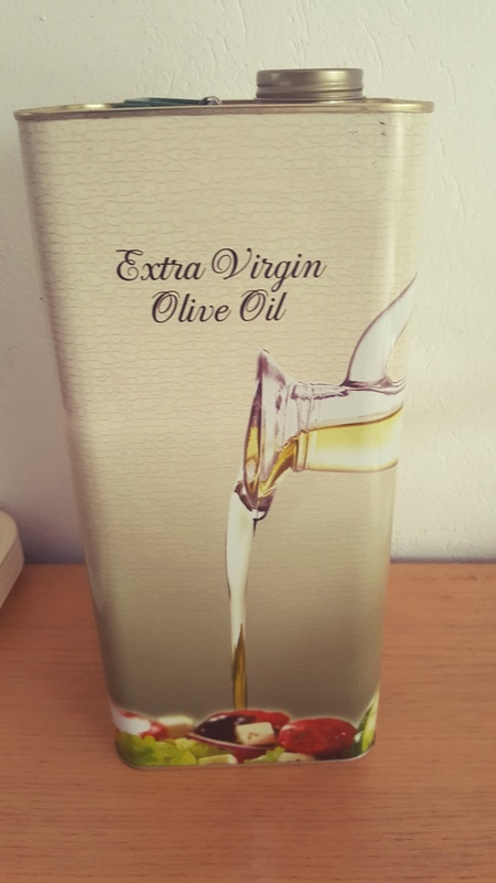 <span></span><div>Cold pressed olive oil donated by Evelin and Werner</div>