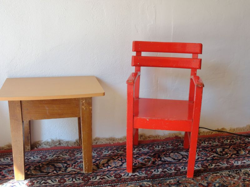 kid´s red chair - <span>from Evelin and Werner</span>