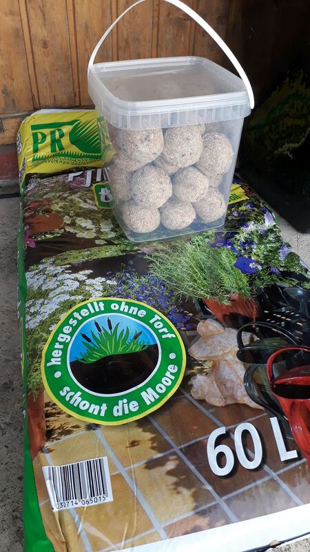 <span></span><div>Soil and bird food donated by Shogen ...</div>