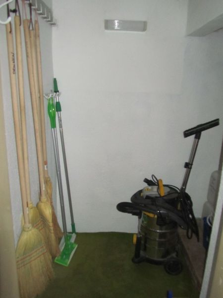 cleaning tool room - <span>finally got a new coat of paint</span>